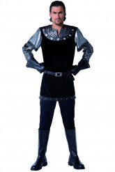 Disfraz medieval de Caballero Negro para hombre