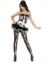 Disfraz sexy de esqueleto para mujer, ideal para Halloween