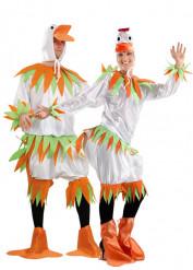 Disfraz de pareja de patos blancos