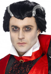 Peluca de vampiro para hombre, ideal para Halloween