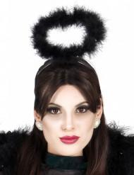 Diadema con aureola color negro para adulto ideal para Halloween