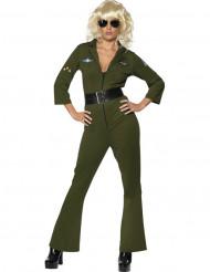 Disfraz de aviador Hottie Top Gun™ para mujer