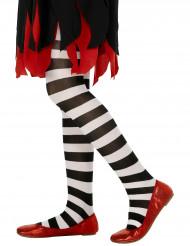 Pantys blancos y negros para niña ideales para Halloween