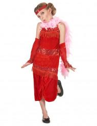 Disfraz rojo de charlestón para niña