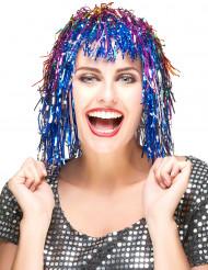 Peluca metálica de varios colores para mujer