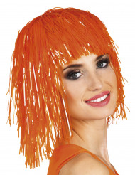 Peluca naranja fosforito para mujer
