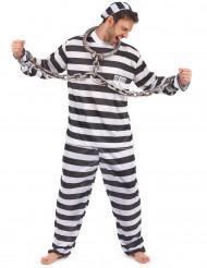 Disfraz de preso para hombre rayas