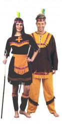 Disfraz de pareja de indios de lujo