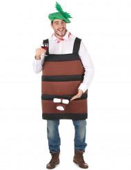 Disfraz de barril de vino para hombre