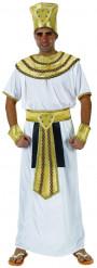 Disfraz de rey egipcio para hombre blanco y dorado