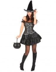 Disfraz de bruja sexy para mujer, ideal para Halloween