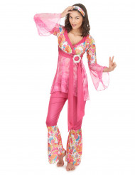 Disfraz de hippie para mujer manga transparente