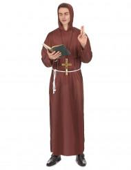 Disfraz de monje para hombre marrón