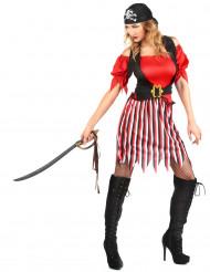 Disfraz de pirata para mujer rayas