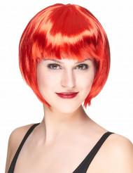 Peluca corta roja para mujer
