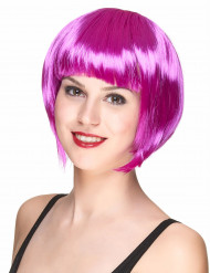 Peluca corta violeta para mujer