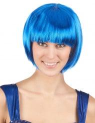 Peluca corta color azul para mujer