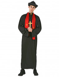 Disfraz de cura para hombre estola roja
