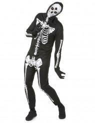 Disfraz de esqueleto para hombre, ideal para Halloween