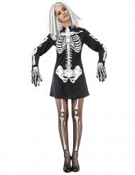 Disfraz de esqueleto para mujer huesos blancos