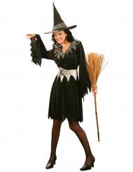 Disfraz de bruja para mujer plateado