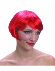 Peluca corta color rojo para mujer