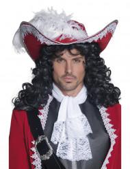 Sombrero rojo de pirata para adulto