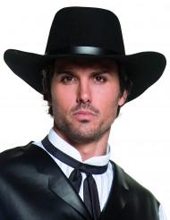 Sombrero negro de vaquero de lujo para adulto