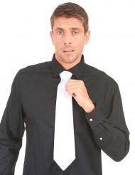 Corbata blanca de gánster para adulto