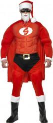 Disfraz de super Papá Noel musculoso para hombre