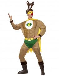 Disfraz de superreno musculoso para hombre