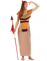 Disfraz de india largo mujer