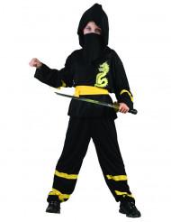 Disfraz amarillo de ninja dragon para niño