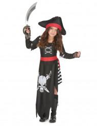 Disfraz de jefa de los piratas para niña