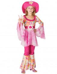 Disfraz de hippie para niña sombrero con flor