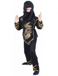 Disfraz negro y dorado de ninja para niño