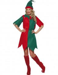 Disfraz de duende de Navidad para mujer