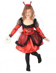 Disfraz de mariquita para niña lunares negros