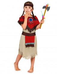 Disfraz de india rojo para niña