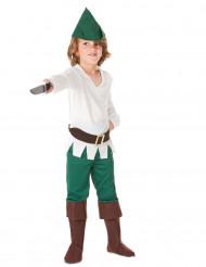 Disfraz de justiciero del bosque niño