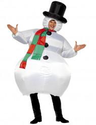 Disfraz de muñeco de nieve inflable para adulto