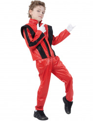 Disfraz rojo de estrella del pop para niño