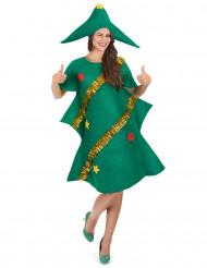 Disfraz de árbol de Navidad para mujer