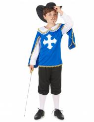 Disfraz azul de mosquetero para niño