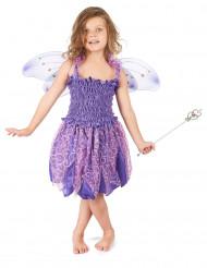 Disfraz violeta de hada para niña