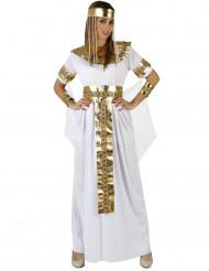 Disfraz de reina egipcia para mujer blanco y dorado