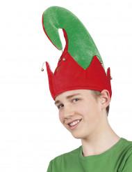Gorro de duende de Navidad para adulto