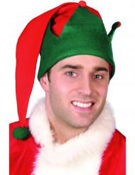 Gorro de duende de Navidad adulto