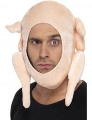 Sombrero de pavo relleno de Navidad para adulto