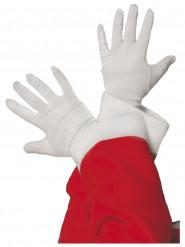 Guantes blancos de Papá Noel